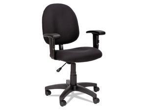 Alera Essentia Series Swivel Task Chair with Adjustable Arms, Black VTA4810