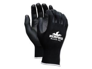 Economy Pu Coated Work Gloves, Black, X-Large, 1 Dozen