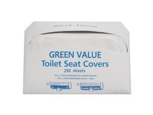 Half-Fold Toilet Seat Covers, White, 14 3/4 X 16 1/2, 5000/carton