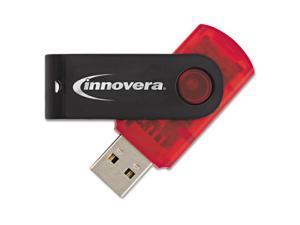 Innovera 37664 USB 2.0 Flash Drive, 64 GB, Red