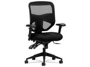 Basyx VL532 Series Mesh High-Back Task Chair Mesh Back Padded Mesh Seat Black