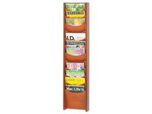 Safco Solid Wood Wall-Mount Literature Display Rack 11-1/4 x 3-3/4 x 48-3/4