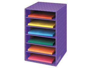 Vertical Classroom Organizer, 6 Shelves, 11 7/8 X 13 1/4 X 18, Purple