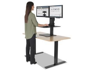 Victor DC350 High Rise Collection Dual Monitor Sit-Stand Desk Converter, 28 X 23 X 15.5, Blk