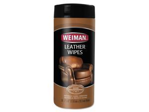 Leather Wipes, 7 X 8, 30/canister, 4 Canisters/carton