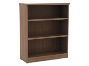Alera - VA634432WA - Alera Valencia Series Bookcase, Three-Shelf, 31 3/4w x 14d x 39 3/8h, Mod Walnut