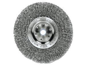 """Trulock Tln-6 Narrow-Face Crimped Wire Wheel, 6"""" Dia, .008 Wire"""