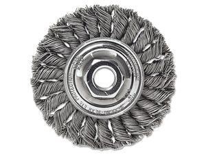 "Dualife Sta-4 Twist Knot Wire Wheel, 4"" Dia, Stainless Steel, .014 Wire"