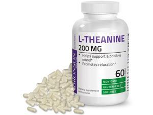 L-Theanine 200mg (Double-Strength) with Passion Flower Herb - Reducing Stress - Non-GMO Gluten Free, 90 Capsules