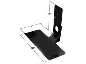 "SDS iMount 2.0 Premium Aluminum VESA Mount Mini Keyboard Tray Attachment Black Light Weight One Piece Construction 9"" x 18"
