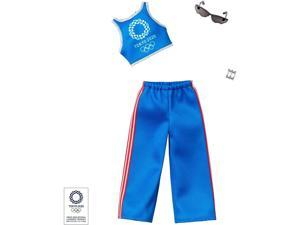 Barbie Olympics Tokyo 2020 Official Blue Training Pants Outfit Clothes Mattel