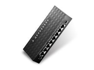 8 Port Gigabyte Ethernet Switch Desktop Ethernet Splitter Hub Plug and Play - axGear