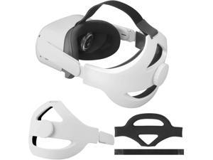 Adjustable Elite Strap for OculQuest 2 Head Strap Headband Enhanced Support and Reduce Head Pressure Comfortable Touch White - axGear