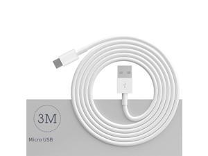 10Ft/3M Micro USB Cables High Speed USB 2.0 A Male to Micro USB White - axGear