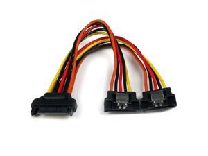 axGear SATA Power Splitter Cable 1 to 2 Adapter SATA 15Pin Power Y Converter Wire 8inch 20cm