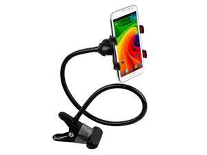 axGear 360 Rotating Desktop Stand Lazy Bed Mount Mobile Cell Phone Holder With Clip