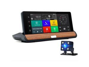 axGear Car Cam Dual Dash Camera Driving Recorder GPS Navigation 7 In LCD Android WiFi