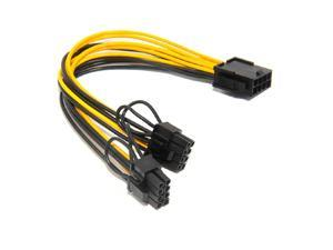 axGear PCI-E 8-Pin To 2x 8 Pin / 6 Pin Dual Power Splitter Cable Extension Wire