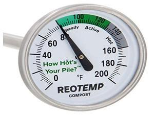 REOTEMP FG20P Bimetal Thermom,2 In Dial,0 to 200F