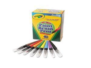 Crayola Llc Formerly Binney & Smith BIN546203 No Drip Paint Brush Pens 40Ct