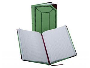 Boorum & Pease Canvas Account Book, Record, 16 Lb., 12 1/2 x 7 5/8-Inches, 150 Pages, Olive Green (67 1/8-150-R)