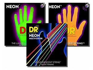 DR Neon HiDef Super Electic Guitar Strings - Yellow - Medium