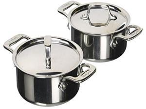 All-Clad E849A264 Stainless Steel Cocottes, 0.5-Quart, 2-Piece, Silver