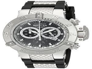 Invicta 5511 Men's Subaqua Chrono Black Polyurethane And Dial Watch