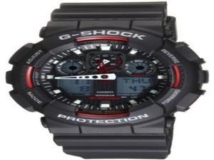 Casio GA100-1A4 G-Shock Analog-Digital Speedometer Men's Watch (Black / Red)