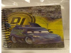 Cars Boom Boom Boom Glitter Spiral Journal - 120 Sheets