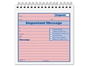 Adams Phone Message Booklet