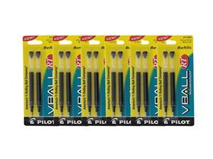 Pilot VBall RT Liquid Ink Retractable Rolling Ball Pen Refills, Extra Fine Point, Black Ink, Pack of 12
