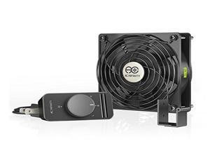 AC Infinity AXIAL S1225, Muffin Axial Cooling Fan, 115V AC 120mm by 120mm by 25mm Fan with Speed Control