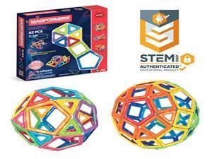 Magformers Intelligent Magnetic Construction Set For Brain Development - 62 Piece Standard Set