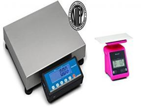 Brecknell PS-USB Portable Shipping Scale NTEP Legal For Trade 30 kg/ 70 lb, Free PS7 Pink included
