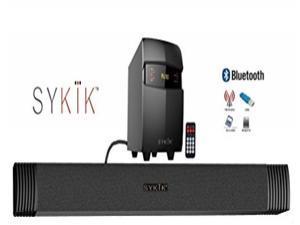 Sykik SBME2SUB Bluetooth Sound Bar with subwoofer, wireless remote, FM radio, RCA input, USB, SD ports and bass control