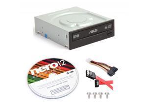 Asus DRW-24B1ST-KIT 24x Internal DVD Burner + Nero 12 Essentials Burning Software + Sata Cable Kit