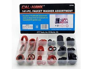 Cal Hawk CZFWA 141-pc. Faucet Washer Assortment Kit, 18 Different Assorted Sizes