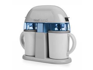 Focus Electrics IC13887WB Dual Single Serve Ice Cream Machine, White