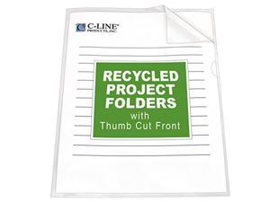C-Line Recycled Project Folders, 8.5 x 11-Inch, Clear, Reduced Glare, 25 Per Box (62127)