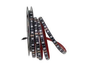RGB LED Strip Lights 5050 300 SMD Waterproof Black PCB 16.4ft Flexible LED Tape Light 60 LEDs/M 5M Rope Lights Enhance to 3M VHB Tape for Home, Festival, Wedding Party Decor