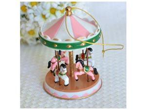 Unbranded Pink Circus Carousel Cake Topper for Baby Showers, Birthdays Vintage Carnival