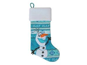 Disney Frozen Olaf Knit With Inlay Large Beautiful Christmas Stocking