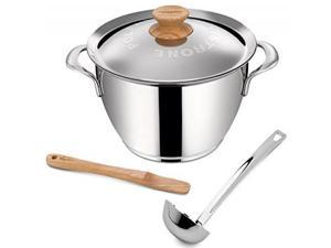 Lagostina Q55102 Minestrone Polenta Stainless Steel Dishwasher Safe Stewpot Cookware, 5-Quart, Silver