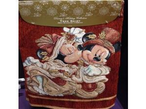 Disney Park Mickey Minnie Mouse Victorian Tapestry Christmas Holiday Tree Skirt