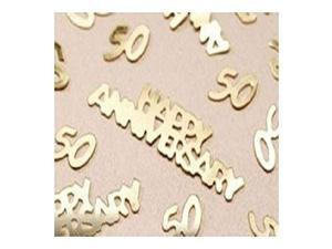 Wedding Party Gold 50th Anniversary Confetti For Decorations Table