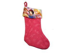 "Disney Princess 18"" Felt Christmas Stocking with Printed Satin Cuff"