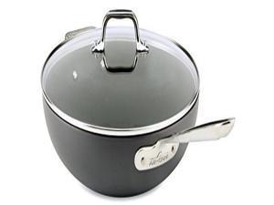 All-Clad E7859464 HA1 Hard Anodized Nonstick Dishwasher Safe PFOA Free Chefs Pan/Wok Cookware, 12-Inch, Black