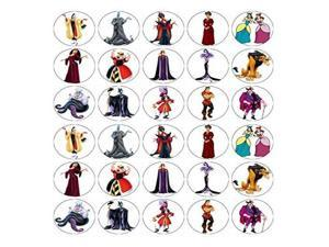 Unbranded Princess Villians Cupcake Toppers Edible Wafer Paper Buy 2 GET 3RD Free
