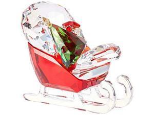 Swarovski Santa's Sleigh Christmas Holiday Figurine, Red/Green/Clear Crystal - 5403203